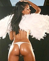 Karla is a sexy white angel left in her wings