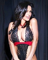 Voluptuous MILF vixen Denise Milani is back again. This dark big boobed Mother of Darkness wants to have you for a snack.