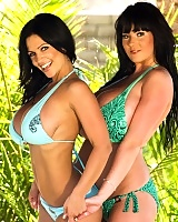 Everyones favorite big tittied MILF Denise Milani is back and this time she brought a friend! Denise Milani met Rachel Aldana on the beach and had to