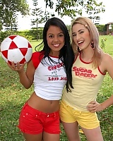 Gigi Spice and Sofia play a naughty game of soccer